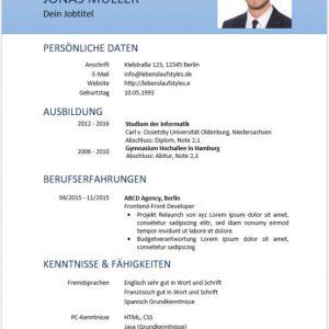 ᐅ Lebenslaufvorlage Gratis Download Schwarz Weiß Mit Blauem Akzent