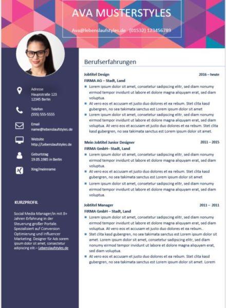 ᐅ Lebenslauf Muster und Vorlagen in Word | Kostenlose Vorlagen