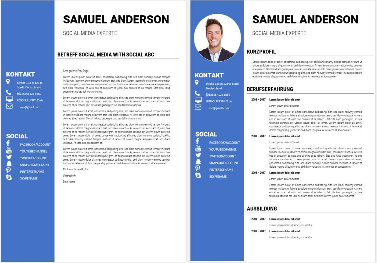 Bewerbungsvorlage | kostenloses Muster | perfekt für Digitalbranche