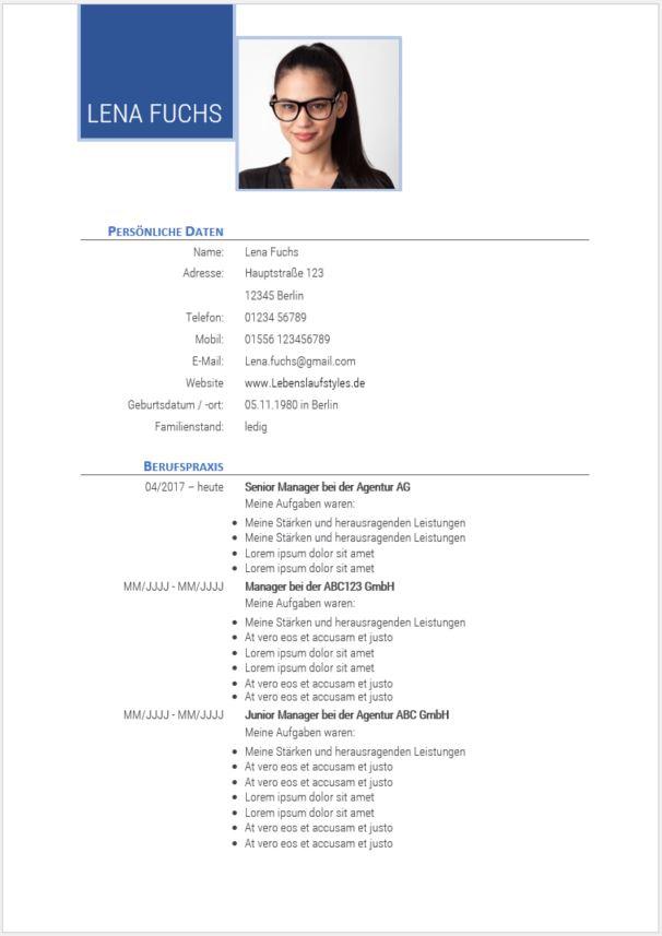 ᐅ Gratis Lebenslaufmuster | für Berufseinsteiger & erfahrene Bewerber