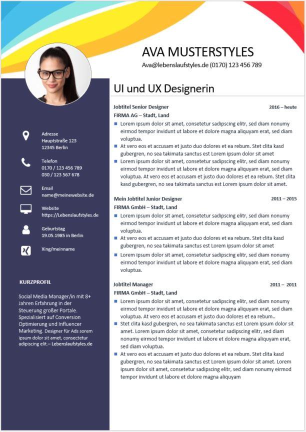 ᐅ Bewerbungsvorlage Design Und Beautybereich Kostenloses Muster